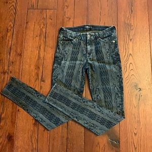 7 for all mankind patterned skinny jeans